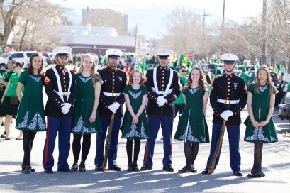 Posing at the St Patrick's Day Parade